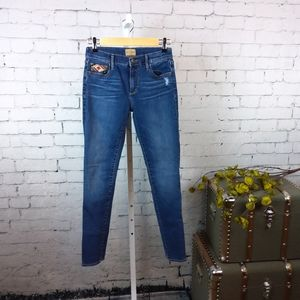 Driftwood Marilyn skinny jeans w/ Aztec embroidery